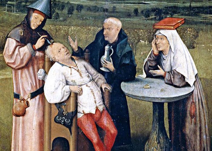 Иероним Босх. Извлечение камня глупости. Музей Прадо в Мадриде